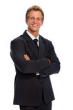 Man in business suit has positive attitude Stock Photography