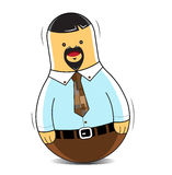 Man business toy tumbler opportunity Royalty Free Stock Image