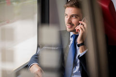 Man during business trip Royalty Free Stock Images