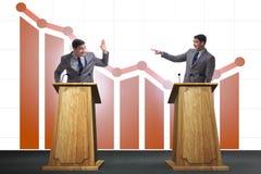 The man businessman making speech at rostrum in business concept. Man businessman making speech at rostrum in business concept Royalty Free Stock Photography
