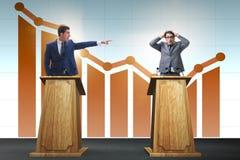 The man businessman making speech at rostrum in business concept. Man businessman making speech at rostrum in business concept Stock Images