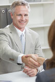 Man or Businessman Office Handshake Female Colleague Royalty Free Stock Photography