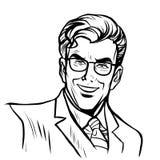 Man businessman online art stock illustration