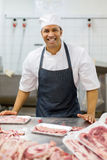Man butcher-shop Royalty Free Stock Photography