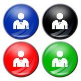 Man button Stock Photography