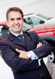 Man buying a car Royalty Free Stock Images