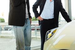 Man buying car from salesperson Stock Photography