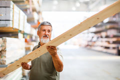 Man buying construction wood Stock Image