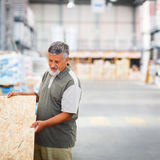 Man buying construction wood in a  DIY store Royalty Free Stock Photography