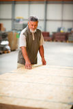 Man buying construction wood in a  DIY store Royalty Free Stock Photo