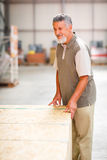 Man buying construction wood in a  DIY store Royalty Free Stock Image