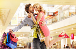 Man buying everything for his wife Royalty Free Stock Photos