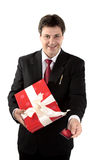 Man buying present Royalty Free Stock Photography