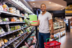 Man buying vegetables royalty free stock images