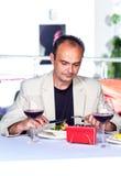 Man in a cafe Stock Photos