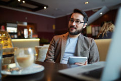 Man at cafe Stock Photos