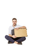 Man and Cajon Stock Images