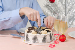 Man with cake Royalty Free Stock Images