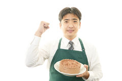 Man with a cake Stock Photo