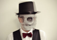 Man with calaveras makeup in motion Royalty Free Stock Photography