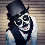 Man with calaveras makeup Royalty Free Stock Photos