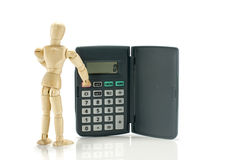 Man calculate on euro conversion equipment Royalty Free Stock Photo