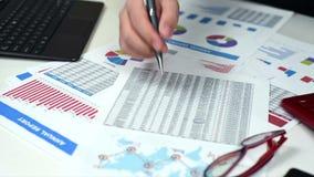 Man Calculate Income stock video