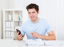 Man Calculating His Bills Royalty Free Stock Photo