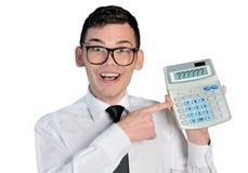 Man with calculator Royalty Free Stock Photos