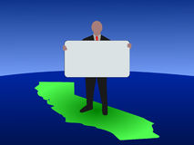 Man on California with sign Royalty Free Stock Photo