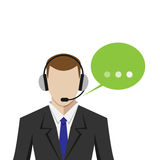 Man in call center Royalty Free Stock Image
