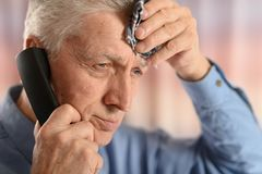 Man calling doctor Royalty Free Stock Photography