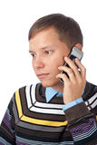 Man calling on mobile phone Stock Image