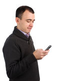 Man calling on a mobile phone Royalty Free Stock Photography