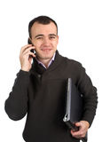 Man calling on a mobile phone Royalty Free Stock Image