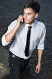 Man Calling by Phone Royalty Free Stock Images