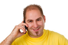 Man calling on the phone Royalty Free Stock Image