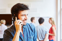 Man calling with smartphone Stock Photo