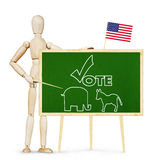 Man calls on to vote in elections Royalty Free Stock Photo