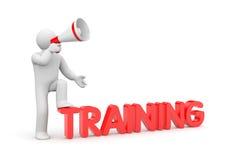 Man calls for training Stock Image