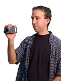 Man With Camcorder Stock Images