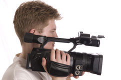 Man with camcorder Royalty Free Stock Image