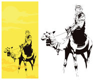 Man on camel. Stock illustration. Stock Image