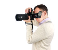 Man with camera Royalty Free Stock Image