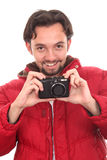 Man with a camera Royalty Free Stock Images