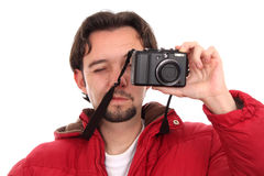 Man with a camera Stock Image