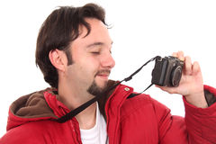 Man with a camera Royalty Free Stock Photography