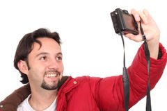 Man with a camera Stock Photos