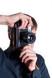 Man with a camera Royalty Free Stock Photos