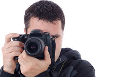 Man and Camera Stock Photography